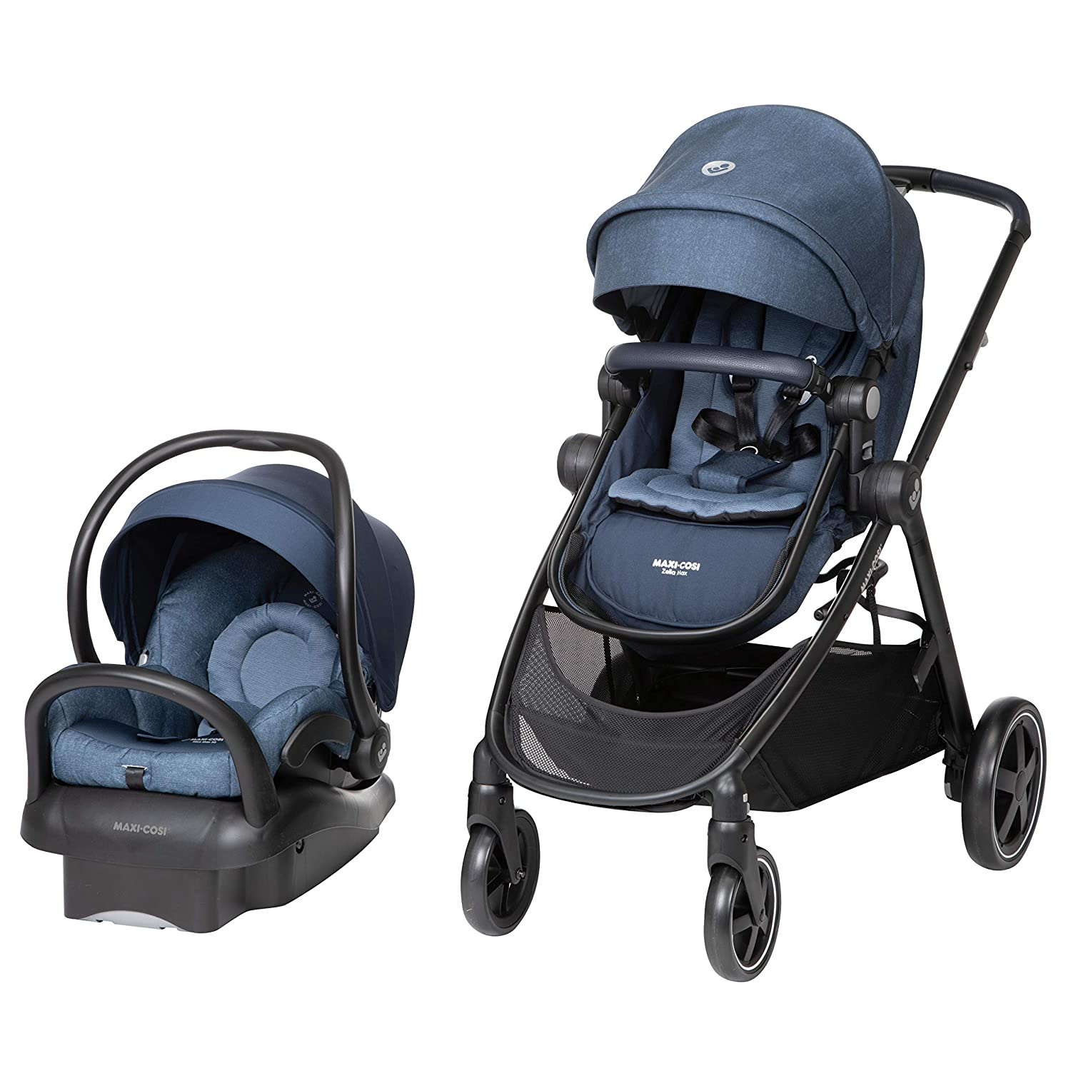 Maxi-Cosi Zelia Max 5-in-1 Modular Travel System, Nomad Blue