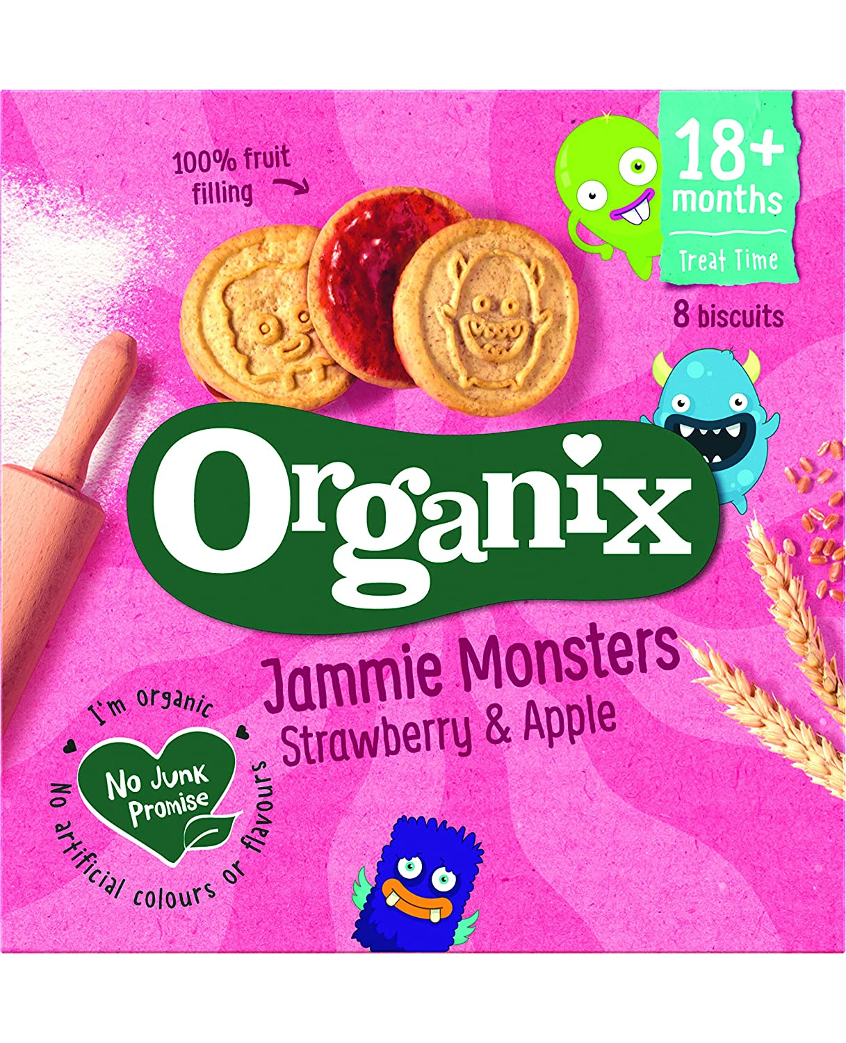 Organix Strawberry & Apple Biscuits