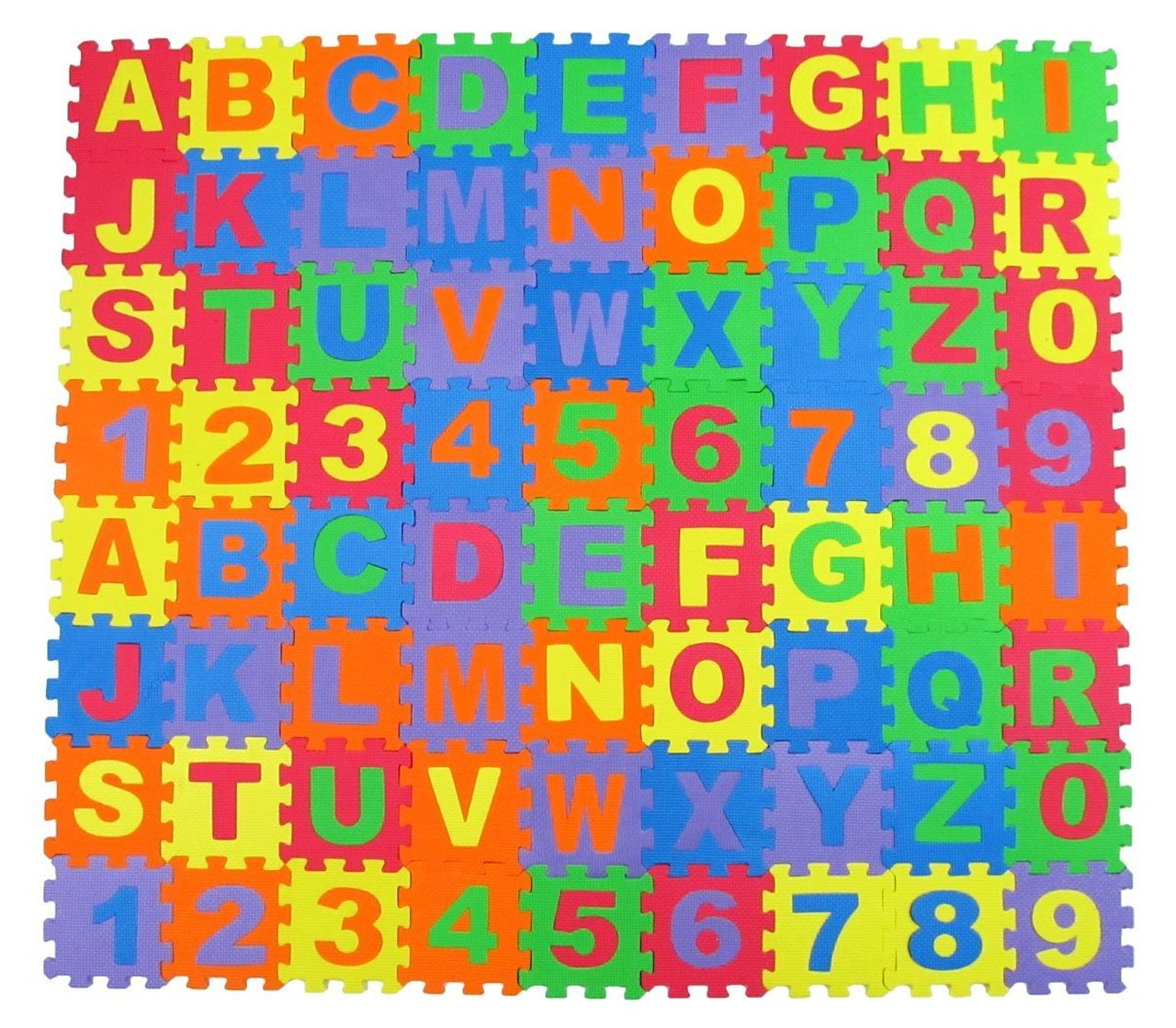Trademark Global Foam Floor Alphabet Puzzles Mat for Kids