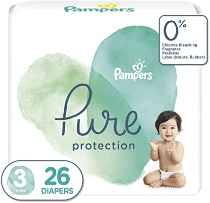 Pampers Pure Protection Diapers Size 3 26