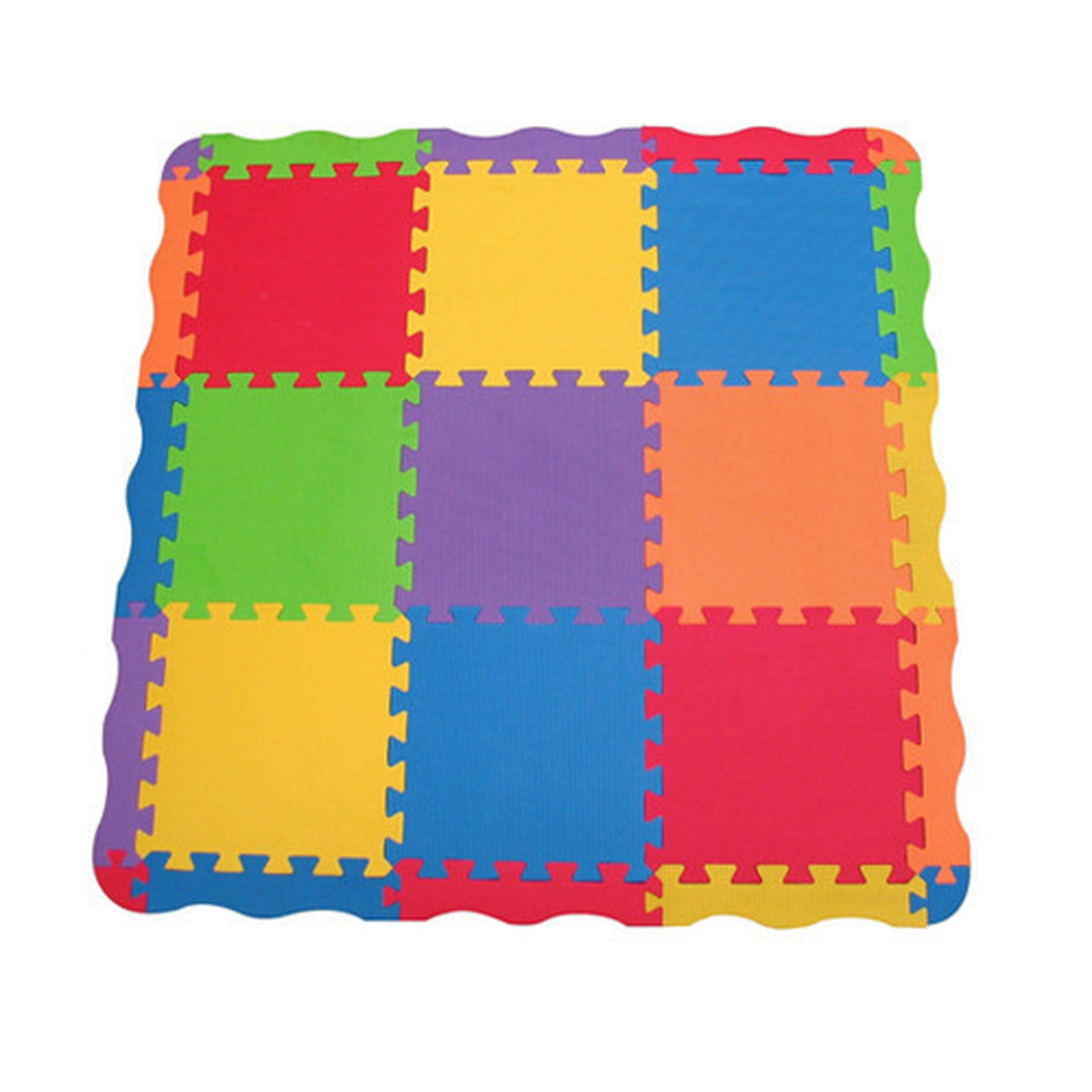 Edushape Edu-Tiles 25 Piece Solid Play Mat with Edges & Corners