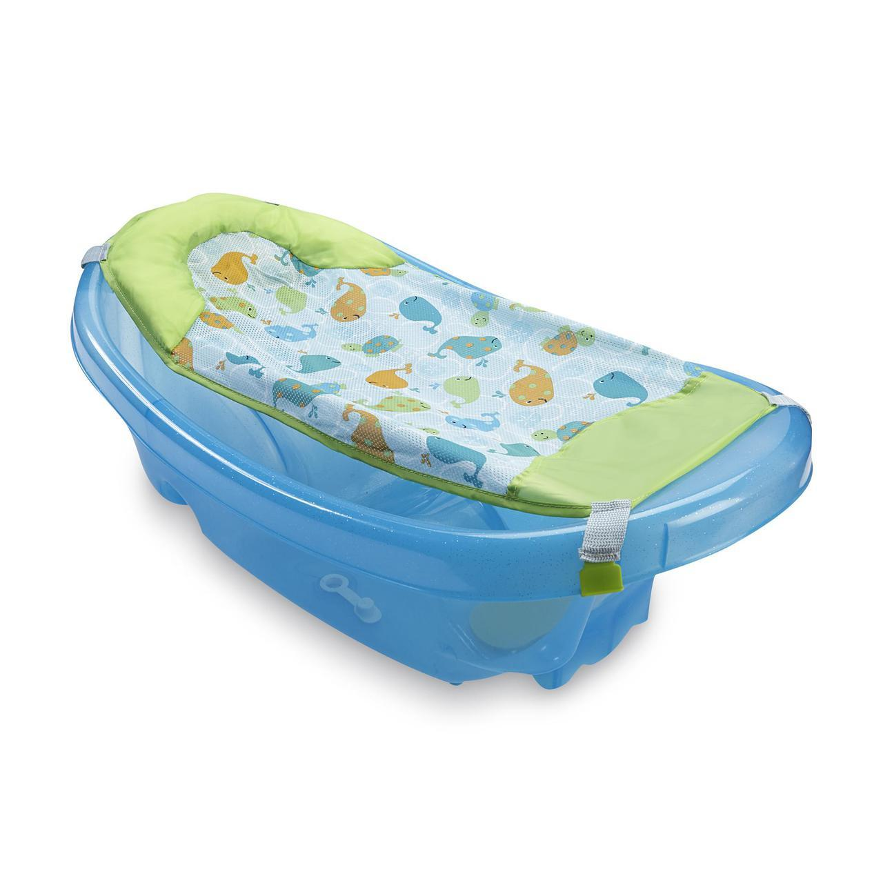 Summer Infant 3 Stage Newborn to Toddler Baby Bath, Monkey Moons