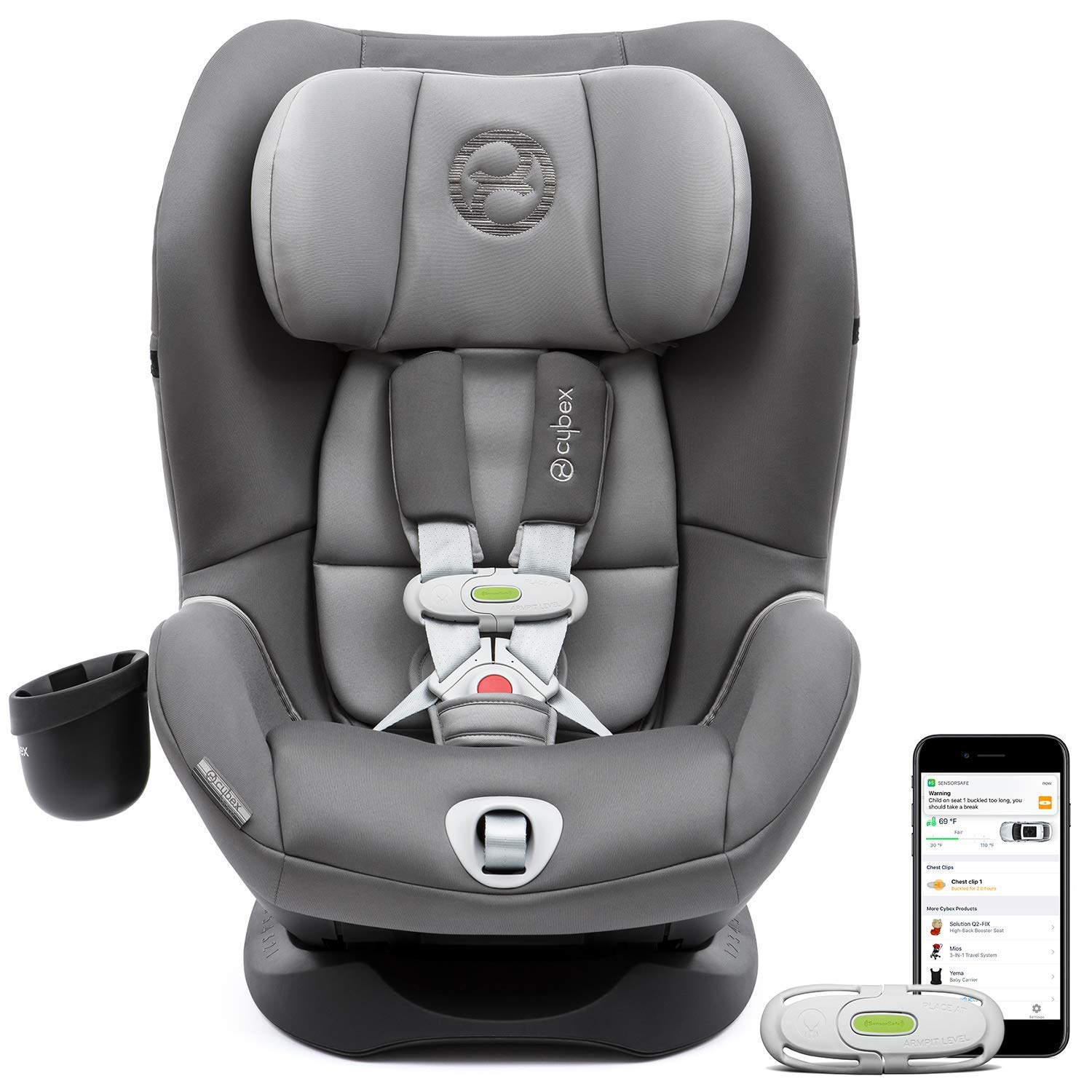 CYBEX Sirona M with SensorSafe Convertible Car Seat, 5-Point Harness