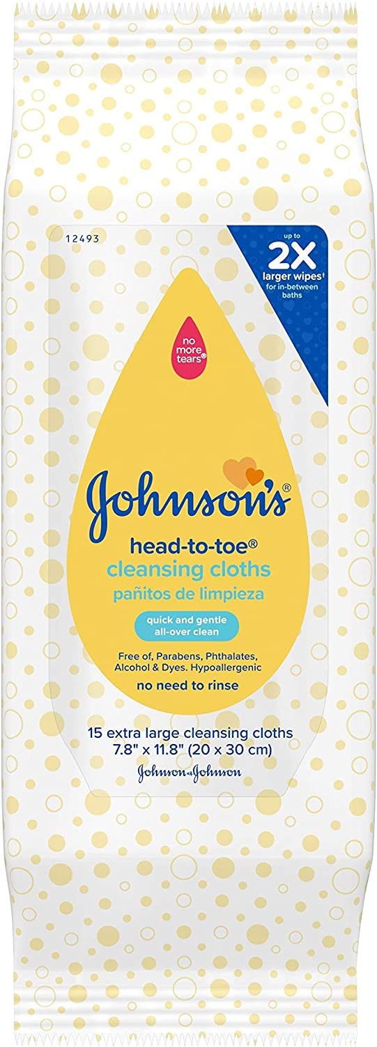 Johnson's Head-to-Toe Baby Cleansing Cloths